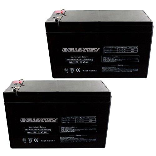 (2-Pack) 12V 7Ah SLA Battery EB1270F1 for UB1270, WKA12-7F, PS1270 Many Uses Alarm System, fire Alarm, Burglar Alarm, UPS Backup Battery, Smoke Detector, exit Signs, inverters, Lighting, Signage
