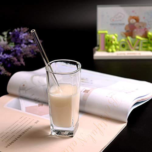 Elevin(TM)  Reusable Glass Straws Smoothie Drinking Straws