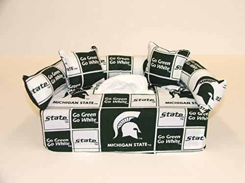 Michigan State University Tissue Box cover. Includes Tissue