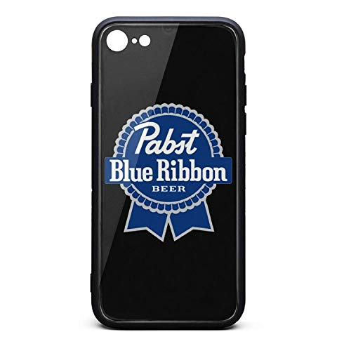 ORYSJDGTS Pabst-Blue-Ribbon-Beer-Logo- Scratch Resistant iPhone 6 Accessories Lightweight Shockproof 9H Tempered Glass Hard Back iPhone 6s Case ()