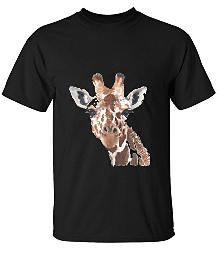 HappyAnimal Man Cute Animal Watercolor Giraffe T-Shirt XXXL for Men black