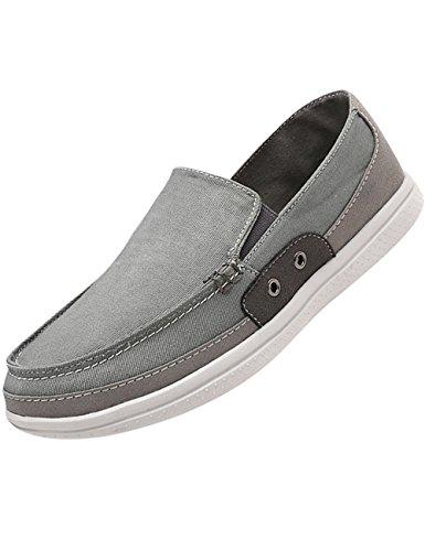 (のグレープフルーツ プラム) メンズ カジュアル スリッポン スニーカー デッキシューズ キャンバス地 メンズ 靴 軽量 大きなサイズ 24.0CM-29.0CM