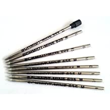 8 x Schmidt 635M Mini Ball Pen Refill - Black - (Lamy M21 and Cross 8518-4 Compatible)