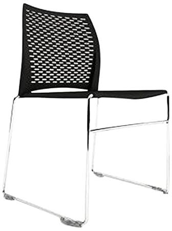 Borgo Net High Density Modern Stacking Chair, Black