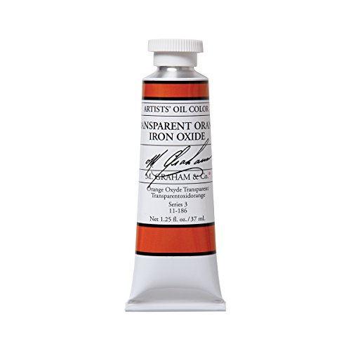 M. Graham Artist Oil Paint Transparent Orange Iron Oxide 1.25oz/37ml Tube