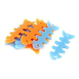 Cuerda de goma del hueso de pescados botón de los auriculares la devanadera del cable del abrigo del sostenedor 8pcs