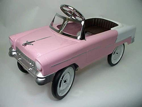 55 classic Pink and White Pedal Car