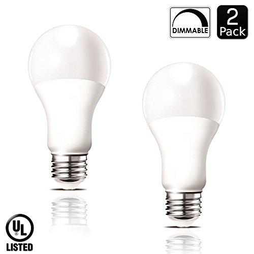 Luxrite LR21081 (2-Pack) 14-Watt Dimmable LED A21 Light Bulb, 100-Watt Equivalent, Warm White 2700K, 1500 Lumens, Medium Screw Base (E26), UL-Listed