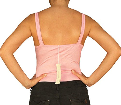 9588 Damen Top, Shirt, Bodyshirt, Bodybluse, Freizeit Sport Dance Tank Top, pink 38/M.