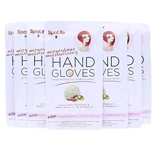 Spa Life Restoring Miraculous Moisturizing Hand Gloves (Cocoa Butter + Vitamin E 8 Pack)
