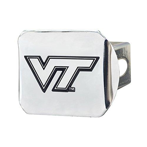 CC Sports Decor NCAA Virginia Tech Hokies Chrome Hitch Cover Automotive Accessory