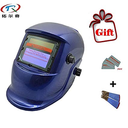 Custom Welding Helmets >> Welding Helmet Welding Mask Set Blue Painting Mig Tig Welder Tools