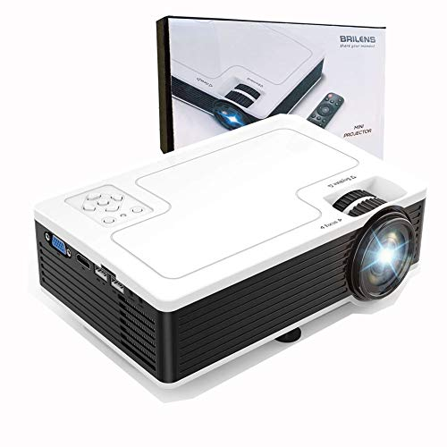 BRILENS Mini Projector Portable Home Theater Movie Projector Support 1080P