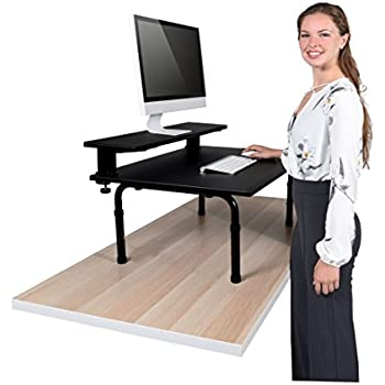 Amazon Com Standing Desktop Converter With Monitor Shelf