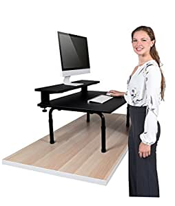 Standing Desktop Converter With Monitor Shelf   Convert Your Desk To A  Standing Desk In Seconds