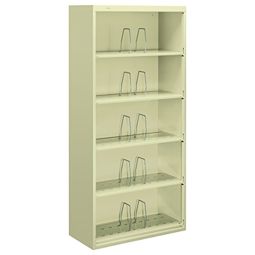 HON J625CNL 600 Series 36 by 16-3/4 by 75-7/8-Inch Jumbo Open File, 5-Shelf, Steel, Legal, Putty