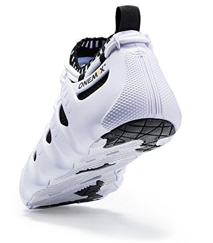 de de Sport Chaussures Textile Façons Course Sneakers Sandales Entraînement Porter Pantoufles Blanc ONEMIX Trois Noir YTaqWp