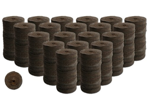 200 Count- Jiffy 7 Peat Soil 42mm Pellets Seeds Starting Plugs: Indoor Seed Starter- Start Planting Indoors for Transplanting to Garden or Planter Pot ()