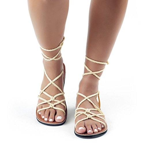 ivory Plaka Gladiator Flat for Sandals Sahara Sweet Women wUU0FxOrq