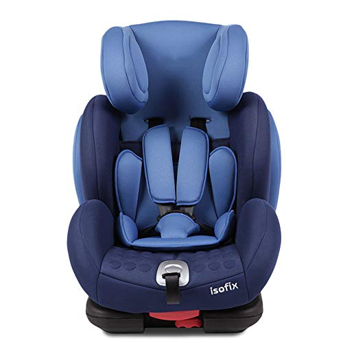 MYRCLMY Child Baby Safety Seat Isofix9 Months-12 Years Old, Car Child Baby Car Seat,Blue