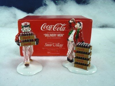 Department 56 Coca Cola Delivery Men Figurines Snow Village