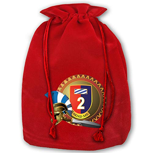 NYSOUVENIRS Bag 1st Armored Brigade Combat Team,3rd Infantry Division Merry Christmas Drawstring Beam Port Canvas Storage Bag Gift Bag Hometom Christmas
