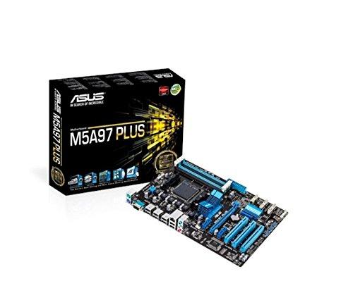 Asus M5A97 Plus Mainboard Sockel AM3+ (ATX, AMD 970/SB950, 4x DDR3 Speicher, 6x SATA 6Gb/s, 8x USB 2.0, PCIe 2.0)