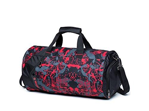 GYPO Multifuncional Bolsa de Deporte Deporte Deporte de Gran Capacidad al Aire Libre Sports Holdall Travel Weekender Bolsa de Deporte para Hombres (Camouflage Rojo) para al Aire Libre 3c39d1