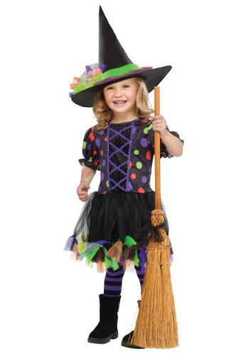 Little Girls' Polka Dot Witch Costume X-Large (4 - 6)