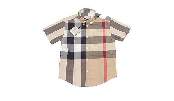 Burberry - Camisa - para niño beige beige Small: Amazon.es: Ropa