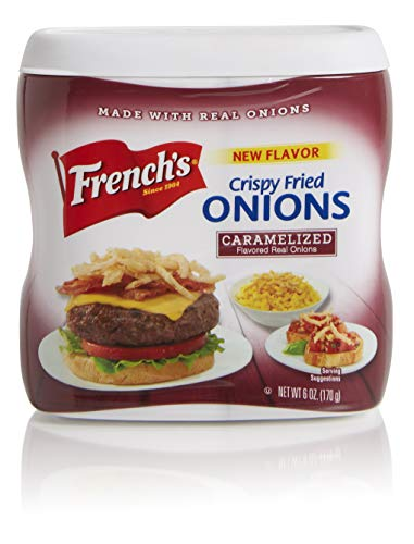 Frenchs Caramelized Crispy Fried Onions, Certified Kosher, Made in the USA, 6 oz (Pack of 2)