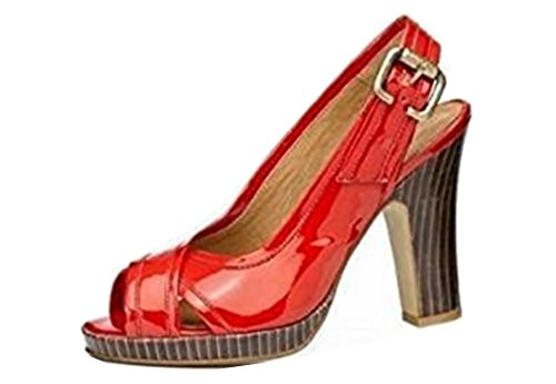 IAW IAW rot - Sandalias de vestir de material sintético para mujer rojo - rojo