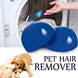 Pet Hair Remover Reusable Lint Removal Fur Catcher Remove Hair from Dogs and Cats for Laundry Dryer, Furniture, Couch, Carpet, Clothing (Blue)