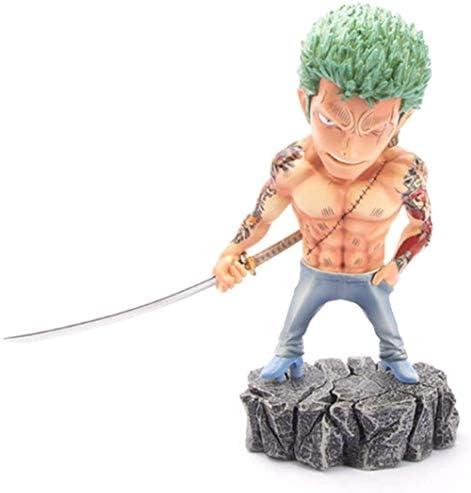 XVPEEN Model Anime Karakter Zwaard Holding Zoro Geanimeerde Karakter Model Standbeeld Ornament Collectibles