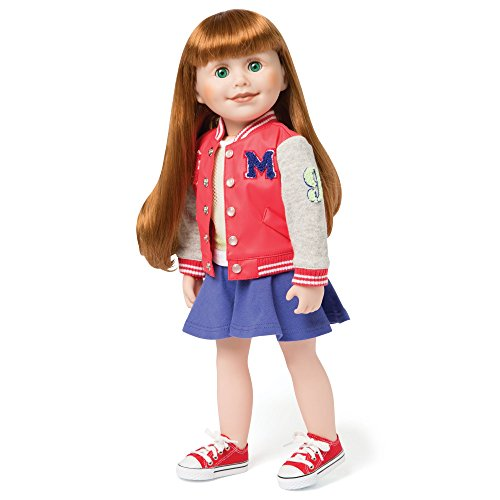 Maplelea Campus Collection Outfit for 18 Inch Dolls with Bomber School Jacket, Skirt, Shoes ()
