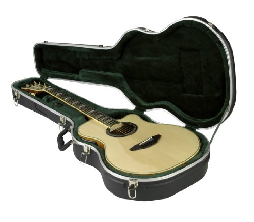 Acoustic Folk Guitar Body (SKB Thin-line Acoustic-Electric/Classic Shaped Hardshell, Standard Latches, Handle)