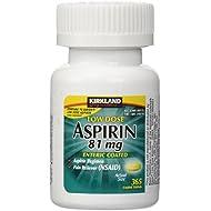 Kirkland Signature Low Dose Aspirin, 1 bottle - 365-Count Enteric Coated Tablets 81 mg each