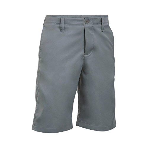 - Under Armour Boys' Match Play Polo Shorts,Steel/Steel,16