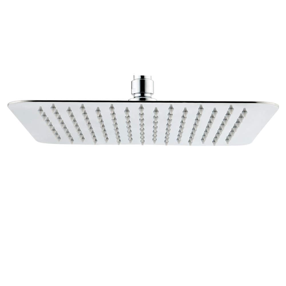 Acefy Braccio doccia 40 cm ottone cromato parete montato braccio doccia quadrato per soffione doccia