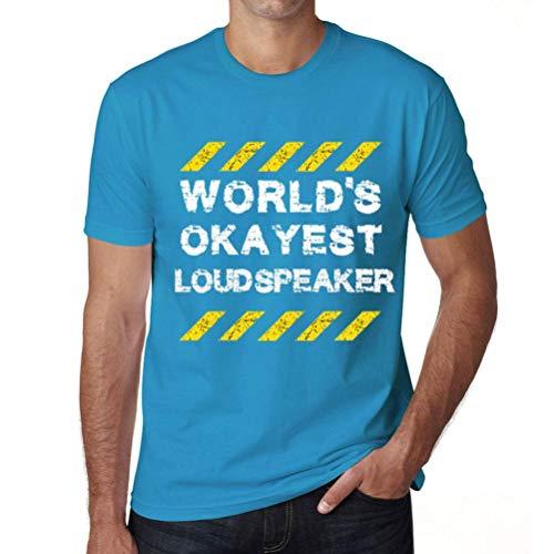 Men's Vintage Tee Shirt Graphic T Shirt Worlds Okayest Loudspeaker Blue Atoll (Best Loudspeakers In The World)