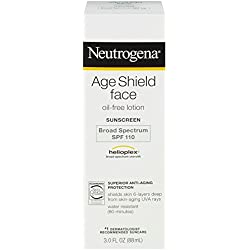 Neutrogena Age Shield Face Oil-Free Lotion Sunscreen Broad Spectrum Spf 110, 3 Fl. Oz.