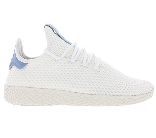 Hu Originals Youth Trainers White Textile Pharrell Tennis Adidas blue Williams White 7InO1Ra