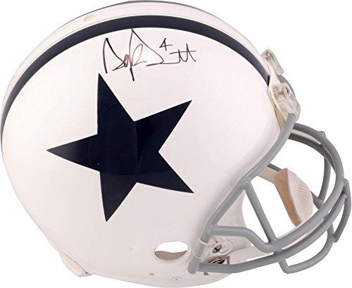 Dak Prescott Dallas Cowboys Autographed Riddell Throwback 1960-1963 Pro-Line Helmet - Fanatics Authentic Certified 1960 Authentic Throwback Helmet