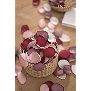 Ling's moment Artificial Flowers Silk Rose Petals Mixed Colors Flower Girl Scatter Petals for Wedding Party Aisle Centerpieces Table Confetti Home Decorations 2