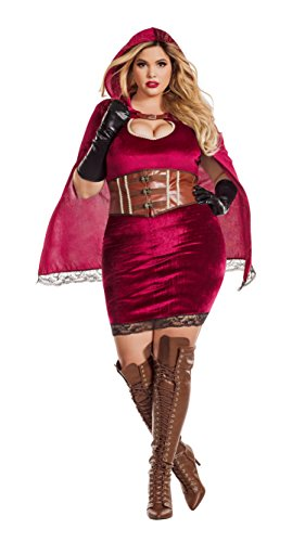 Starline Women's Plus Size Red Riding Hood, As Shown, 1X