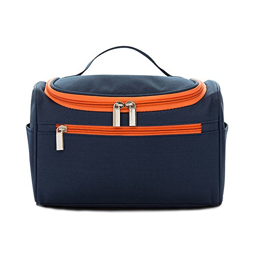 Hanging Travel Toiletry Bag for Men and Women - Decdeal Waterproof Cosmetic Bags - Perfect Travel Cosmetic Organizer (Navy blue)