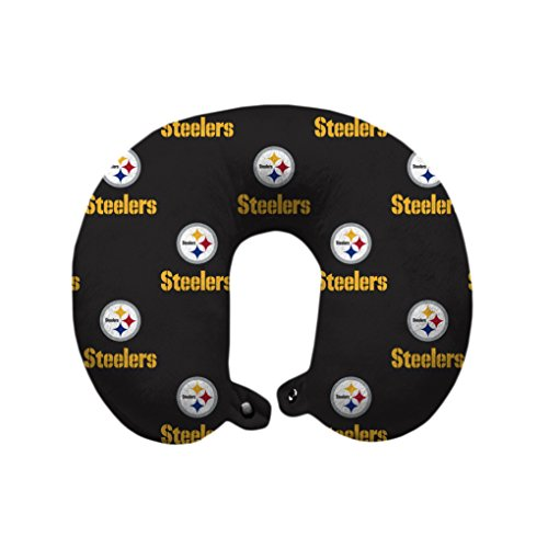 NFL Pittsburgh Steelers U-Neck Polyester Travel Pillow Pittsburgh Steelers Pillow
