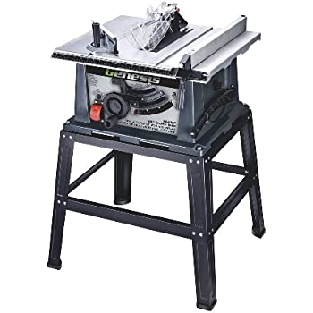 Genesis GTS10SB 10 Inch 15 Amp Table Saw With Stand