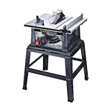 Genesis GTS10SB Table Saw with Stand, 15-Amp, 10-Inch, Grey