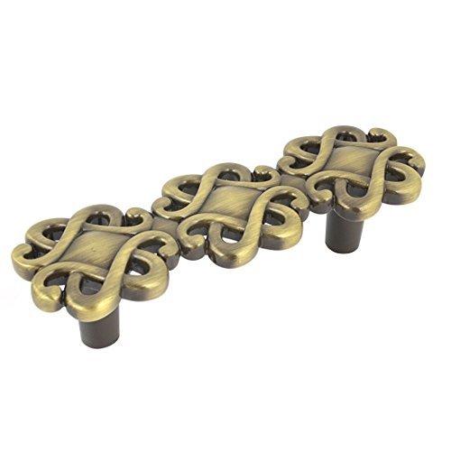 eDealMax hogar Artculos de ferretera del cajn Armario de puertas Tire de la manija de bronce del tono 9.5cm